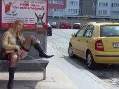bus stop pee