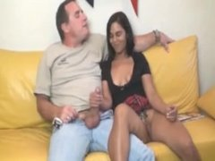 Teen Latina loves jerking off this cock