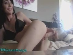 Teen girl masturbating on webcam