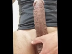 ME WANKING MY BIG COCK AND CUMMING FOR YOU CLOSE UP POV