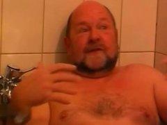 Sex in the bathroom- cut 1(#old man, #grandpa,#dad)