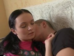 Dagfs - Teen Larisa Iermilov takes care of her bf's needs.