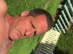 Self facial in garden