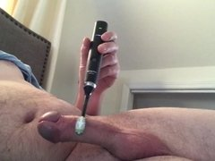 Masturbating with a toothbrush