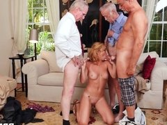 Raylin Ann Has Group Sex With Old Men