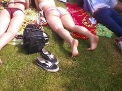 Bikini Teens in the Park