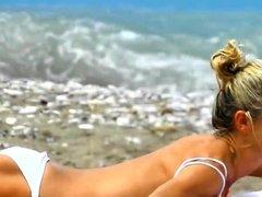 Spy Beach Mature with nice puffy Nipples huge hard Areolas