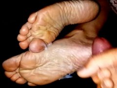 Feet Cum Compilation - 10 Cumshots on soles