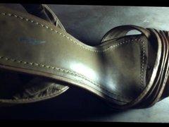 Huge cumshot on friend heels shoes - a brazilian teen