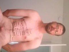 Faggot Mick Kelly exposing himself