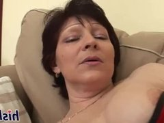 Raunchy mature slag gets pounded really hard