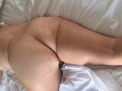 voyeur admires MILF in bed