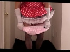 Sissy gets triple diapered