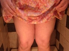 Pissing in my summer skirt
