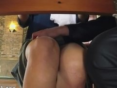 Teen gets blacked hot pink pussy creampie