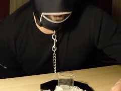 Drinking Cum from Two Condoms from a Stranger