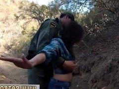 Webcam teen tit tease Mexican border patrol