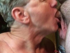 Stu Gives BlowJob, Takes Cum Facial In Slow Motion