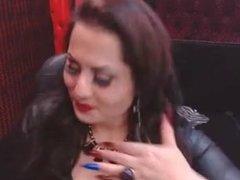 Sexxy Babe In Latex Smoking&Flirting