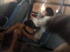 Masturbation in bus 14