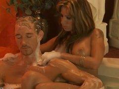 Golden Handjob Massage From MILF