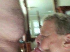 Stu The King Of Cum Sucks Big Cock, Takes Cum Facial