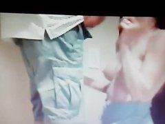 blowjob on stepladder, hidden cam