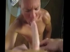 Blue-eyed cocksucker stud drains every drop from hung ginger Crotchonfire