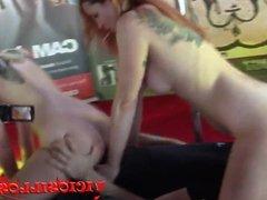 Irina Vega y Alexa Nasa lesbico con espontaneo en el SEMAD