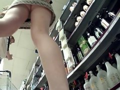 Up Mini Skirt of Girl choosing Whisky
