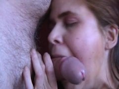Swedish wife suck me till I cum in her face and mouth