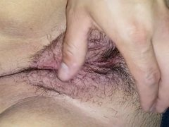 Wifes hairy used pussy red and swollen