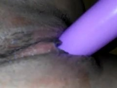 Masturbation with pink dildo