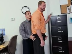Gay sex dad fuck men First day at work