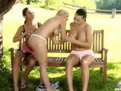 Carmen licks and kisses Roxy on Sapphic Erotica in lesbian