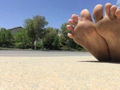 Public foot montage