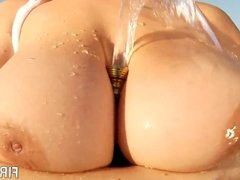 Huge tittied babes oiling