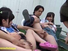 Cute Himekawa Yazawa And Pals Get Fucked In The Garden Really Cute Jav Teen