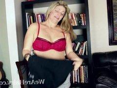 Alicia Silver masturbates after reading a hot book