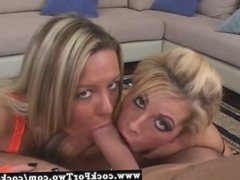 Busty Brooke Haven and Megan Monroe in a hot cock sucking co