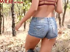 HOT Mia Marin latina teen has super raunchy super hot sex in the forest