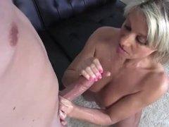 Big cock handjob and cumshot