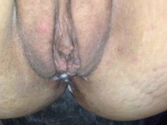 Cumming on my boyfriends dick
