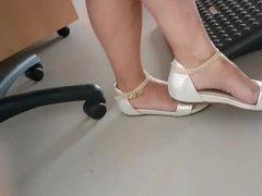 Candid mature feet