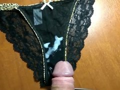 ejaculation on panties