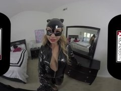 VR Sex With A Hot Catwoman Carmen Caliente Only on VRCosplayX com
