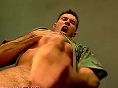 Hot military men go wild in a gay anal fuck fest orgy