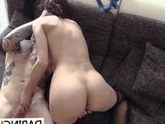 Hot brunette with sexy ass gets fucked