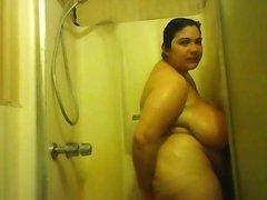 bbw solo shower webcam