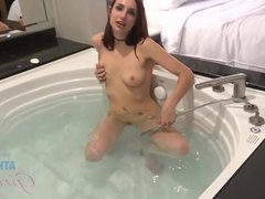 April Snow Enjoys a Finger in the Ass While Getting Creampie